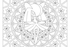 Adult Pokemon Coloring Page Kirlia 271