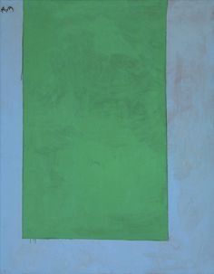 Motherwell, Robert-Open No. 10 - In Green on Blue, acrylic and charcoal on canvas, 175,2x137,1cm, ca 1967