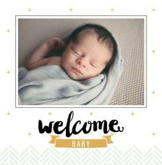 Mixbook Welcome Baby Boy Family Photo Books