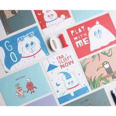 PlanD Star bi illustration cute message card - fallindesign.com