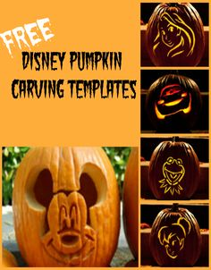 Two of my favorite things, Disney and Halloween! Disney Pumpkin Carving Patterns Free