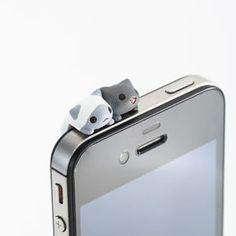 earphone jack accessory にゃんこ型イヤホンジャックアクセサリー