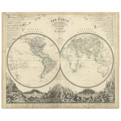 Alexander Keith Johnston Paper Antique World Map . Antique World Map, Antique Maps, Vintage World Maps, World Relief, Cape Colony, Middle Passage, Pictorial Maps, World Map Art, India Map