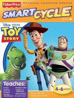 Fisher-Price SMART CYCLE Software - Disney/Pixar Toy Story by Fisher Price. $15.68. From the Manufacturer                Pedal back in time to explore dinosaur eras. This game cartridge slides right into any Smart Cycle model for extra learning opportunities with fascinating facts, exciting sounds and skill-building games. Three ways to play: drive, learn, or race - with the characters on-screen or against another player. Teaches dinosaur facts, matching, measuring, spatial skil...