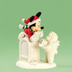 Snowbabies Disney Department Dept 56 Special Delivery from Mickey Me Mouse | eBay