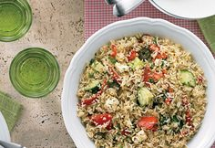 salade riz grecque