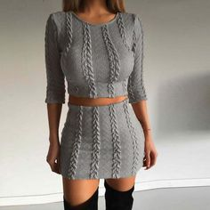 Kathleen Knit Sweater Two-Piece Dress