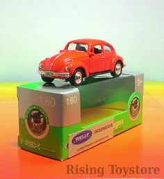 Welly Volkswagen Beetle, merah (skala 1:60)