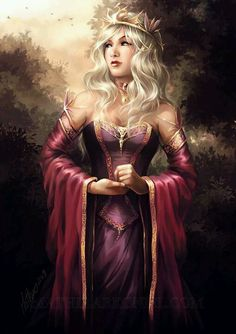 """asoiaf: Dany by *MathiaArkoniel on deviantART """"Daenerys Targaryen is no maid, however. She is the widow of a Dothraki khal, a mother of dragons and a sacker of cities, Aegon the Conqueror with teats. Elven Princess, Fantasy Princess, Dark Princess, Fantasy Art Women, Fantasy Girl, Character Portraits, Character Art, Fantasy Characters, Female Characters"""