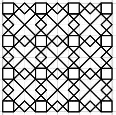 Motifs Blackwork, Blackwork Cross Stitch, Blackwork Embroidery, Embroidery Patterns, Cross Stitch Patterns, Quilt Patterns, Graph Paper Drawings, Graph Paper Art, Pattern Paper