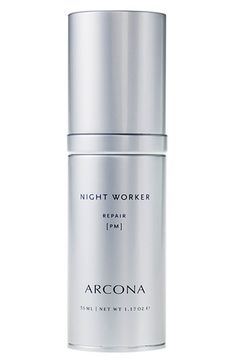 Free shipping and returns on ARCONA 'Night Worker' Cream at Nordstrom.com. Reparative cream-gel hydrates, brightens and strengthens skin's natural immune response while you sleep. Reduce fine lines, neutralize free radicals and stimulate collagen synthesis with vitamin C complex. Replenish and hydrate skin with peach, pumpkin and apricot extracts infused with antioxidant enzymes. Revitalize skin's glow with DHEA and essential fatty acids.