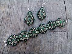 Сутажный комплект, Сутажный браслет, Сутажные серьги, Зеленый брслет – купить в интернет-магазине на Ярмарке Мастеров с доставкой
