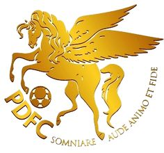 1986, Pro Duta FC (Lubuk Pakam, Indonesia) #ProDutaFC #LubukPakam #Indonesia (L10239) Soccer Logo, Sports Logo, Logo Horse, Sports Clubs, Football, Horses, Asia, Logos, World