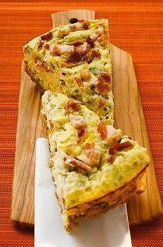 Tarta de puerros, panceta y queso. Una delicia!!