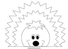 riccio-lavoretti-autunno-2 Sewing Appliques, Kindergarten Activities, Creative Kids, Coloring Books, Origami, Crafts For Kids, Clip Art, Scrapbook, Templates