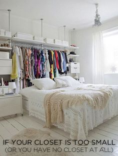 28 Easy Solutions To Your Closet Problems #Organization