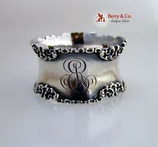 Floral And Scroll Sterling Silver Napkin Ring Gorham 1880