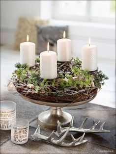 kerstkrans met kaarsen - 2014 - wreath Order your Balsam or Fraser Fir: Clippings, Miniatures & Trees on-line with Hilltop Christmas Tree! http://www.hilltop-christmas-trees.com/