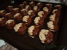 Show details for Recept - Ořechové věnečky Christmas Sweets, Christmas Candy, Christmas Baking, Christmas Cookies, Baking Recipes, Snack Recipes, Czech Recipes, Oreo Cupcakes, How Sweet Eats