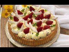 Crostata con base morbida crema e fragole, FACILE e BUONA - YouTube