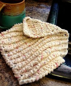 Textured Crocheted Dishcloth