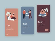 Onboarding by Kateryna Here's another shot this week. I'm looking forward to your feedback :) App Ui Design, Interface Design, Icon Design, Layout Design, Dashboard Design, Flat Design, Design Design, Graphic Design, Mobile App Design