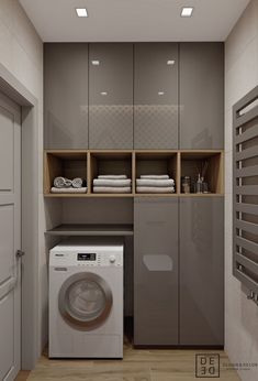 Laundry Room Ideas For Small Spaces That You Need It laundry laundryroom laundryroomideas &; Laundry Room Ideas For Small Spaces That You Need It laundry laundryroom laundryroomideas &; Laundry Room Cabinets, Laundry Room Storage, Laundry In Bathroom, Bathroom Cabinets, Bathroom Interior, Interior Design Kitchen, Interior Design Living Room, Modern Kitchen Design, Modern Design