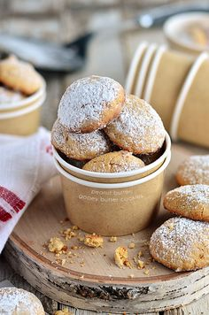 A peanut butter twist on the gooey butter cake made into a soft delicious peanut butter cookies.