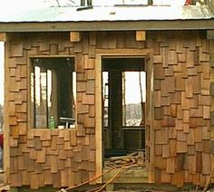Staggered Cedar Shingles With Textured Wave Coursing On