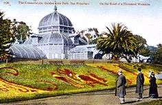 Vintage San Francisco Conservatory of Flowers
