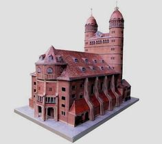 This is Paulus Church , or Church of the Apostle Paul , an architetural building from Germany, and this paper model was based in a real ...