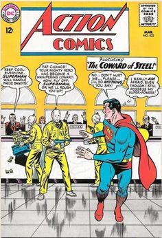 Action Comics 322 Superman Comic Cover hi-res Old Superman, Superman Action Comics, Superman Comic Books, Dc Comic Books, Vintage Comic Books, Dc Comics Art, Fun Comics, Comic Book Artists, Vintage Comics