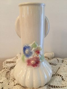 Ironstone Vase  Cottage Chic  Art Deco  by PineStreetPickers