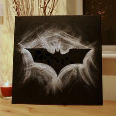 Batman logo swoosh painting