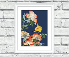 """Modern, elegant, vibrant and cheerful cross stitch pattern """"Asian Flowers"""". These patterns look especially attractive when viewed from a distance and not difficult to stitch! Perfect for any room in your home including living rooms, kids rooms and bedrooms. 6.99$"""