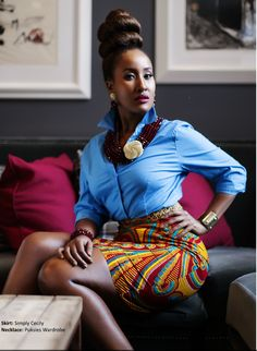 All Things Ankara: Magazines: Afroelle Magazine April 2014 Issue Nunu Wako