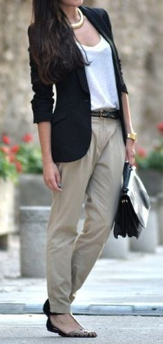 A plain dark blazer. Goes with casual or smart anything.