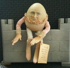 Ultra RARE! ....... Wendy Brent LOOK Handpainted Humpty Dumpty Composite  #WendyBrentOriginals