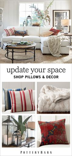 Put that all-important personal stamp on your home with inner décor options for every taste and style. From lanterns and candles to mirrors, pillows, flowers, plants and so much more—at Pottery Barn you'll find everything you need to make a house a home. Shop the collection today.