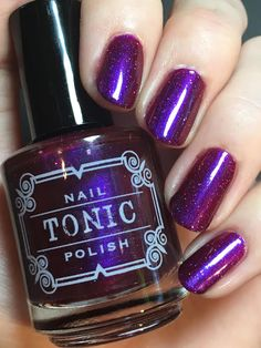 Tonic Nails Polish Con or Bust! 2016.  Much more sparkly in person.  Reminds me of CrowsToes Indian Summer only with holo sparkle.