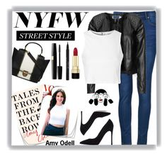"""NYFW Street Style"" by pink1princess ❤ liked on Polyvore featuring Ally Fashion, Zizzi, Glamorous, Gianvito Rossi, Dorothy Perkins, Dolce&Gabbana and Stila"