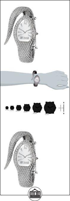 Just Cavalli R7253153645 - Reloj analógico de cuarzo para mujer con correa de acero inoxidable, color plateado  ✿ Relojes para mujer - (Gama media/alta) ✿