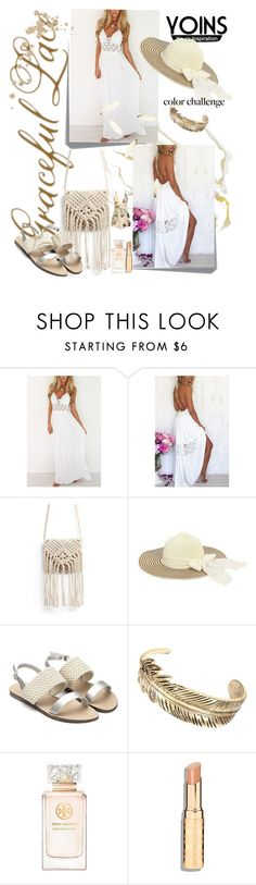 """""""yoins playsuit"""" by manuela-cdl ❤ liked on Polyvore featuring Post-It, Tory Burch, vintage, yoins and loveyoins"""