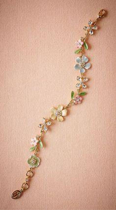 Enamel Flower Bracelet. From BHLDN.com $150.00