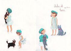 lulu et henri illustration  by Emma Block