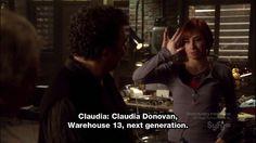 Warehouse 13, Season 1 Episode 6, Claudia Donovan.