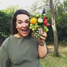 Real life logo for hosting launching event Fruit Flower Basket, Fruit Hampers, Edible Bouquets, Fruit Packaging, New Fruit, Sweet Box, Fruit Painting, Fruit Displays, Edible Arrangements