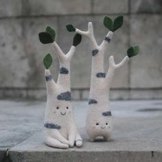 Cute Wool Felt Creatures Look Like They Belong in a Magical Woodland