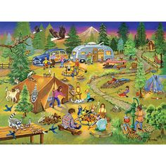 Camping with Grandma & Gramps - 1000 Piece - Bits & Pieces