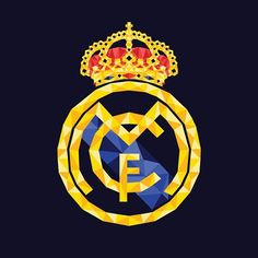Real Madrid logo - Low Poly Vector Designs on Behance Real Madrid New Kit, Logo Real Madrid, Real Madrid Store, Real Madrid Cake, Real Madrid Soccer, Ronaldo Real Madrid, Real Madrid Players, Low Poly, Places